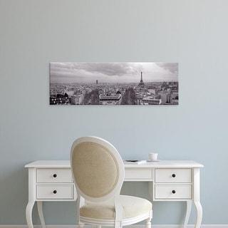 Easy Art Prints Panoramic Images's 'Eiffel Tower, Paris, France' Premium Canvas Art