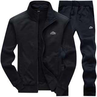Link to Men's Tracksuit Set Full Zip Long Sleeve Jogging Running Sweatsuits(Sweatshirt+Pant) Similar Items in Men's Outerwear