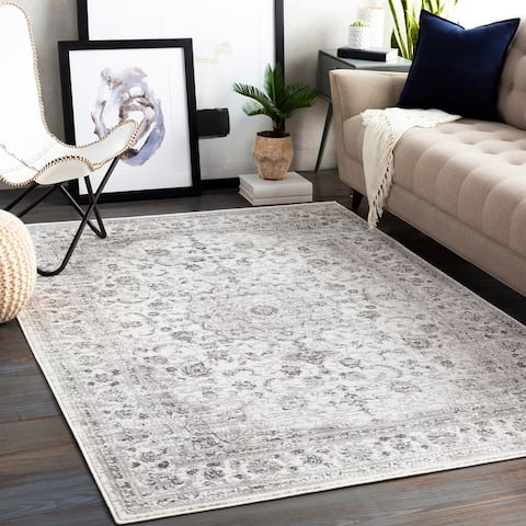 Porch & Den Moon Valley Distressed Traditional Area Rug