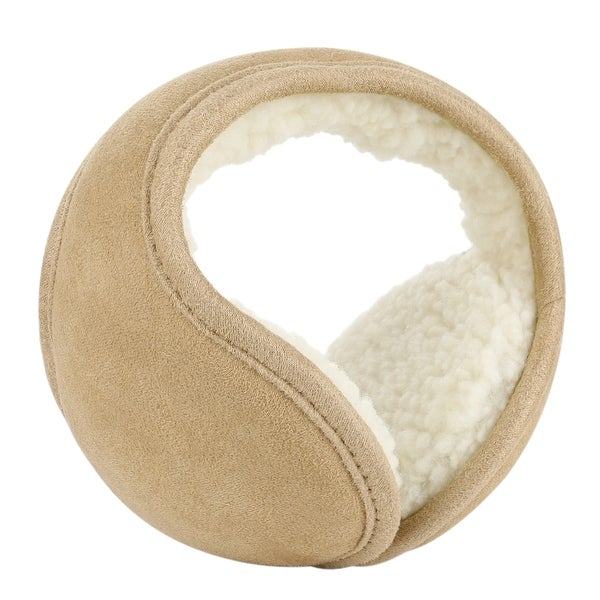 Warm Foldable Winter Knit Earmuffs for Women Men Camel
