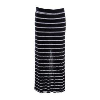 Michael Stars Womens Juniors Hampton Striped Slim Maxi Skirt