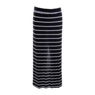 Michael Stars Womens Juniors Hampton Maxi Skirt Striped Slim