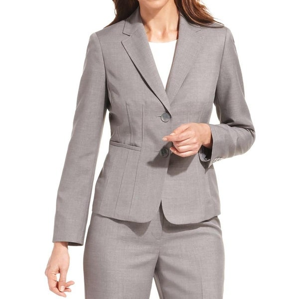 Kasper Womens Blazer Seamed Long Sleeves
