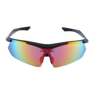 ROBESBON Authorized Unisex Riding Sports Sunglasses Lens Cycling Glasses Black