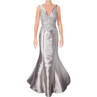 Terani Couture Applique Embellished Formal Dress