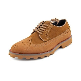 Generic Surplus Longwing Men Wingtip Toe Suede Tan Oxford