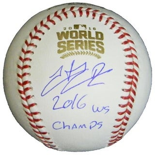 Hector Rondon Signed Rawlings Official 2016 World Series MLB