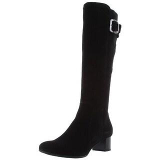 La Canadienne Womens Jada Suede Waterproof Knee-High Boots