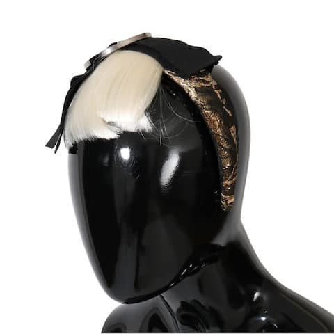 Dolce & Gabbana Black Crystal White Diadem Women's Headband - One Size