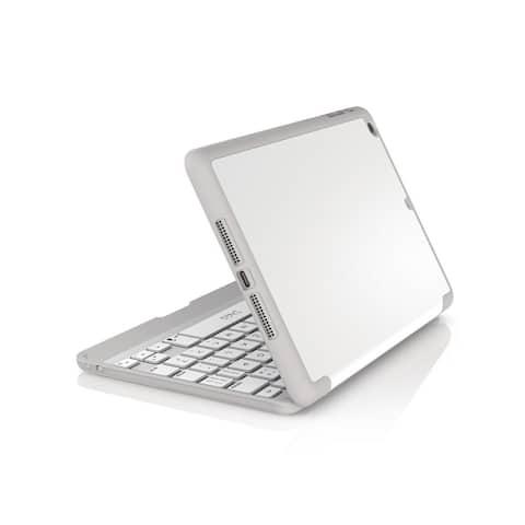 ZAGG Folio Case Hinged With Bluetooth Keyboard for iPad Mini & Mini Retina - White