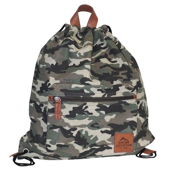 Buxton Men's Huntington Gear Drawstring Backpack