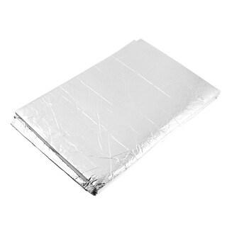 "Unique Bargains Selft Adhesive Back 47"" x 37"" Heat Insulation Mat Pad Silver Tone"