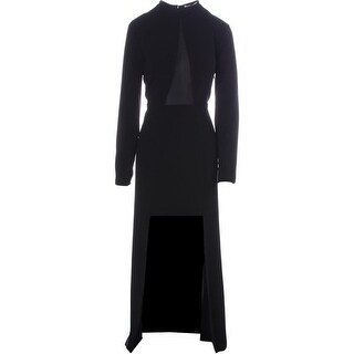 Halston Heritage Womens Crepe Hi-Low Evening Dress - 10