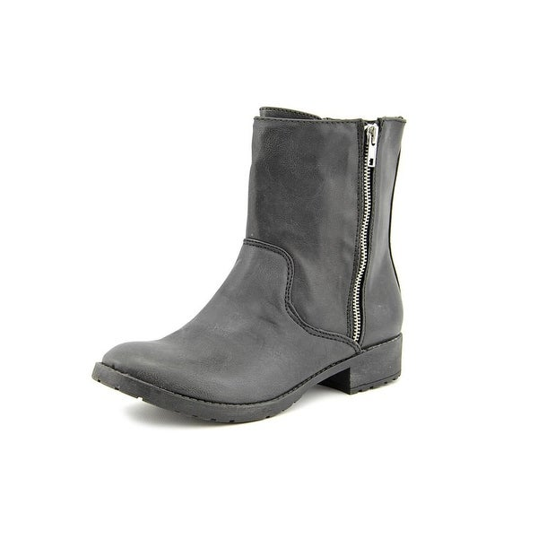 Mia Iva   Round Toe Synthetic  Mid Calf Boot