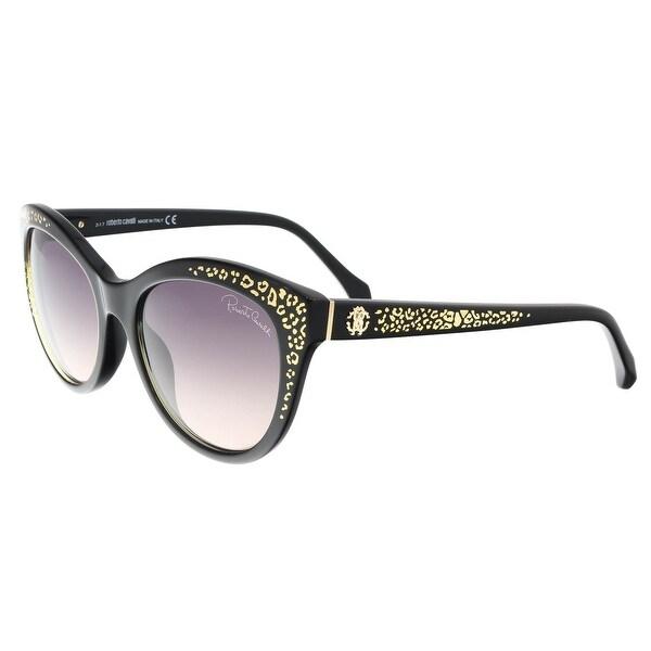 Roberto Cavalli RC992S TSEANG 05B Black Cat Eye Sunglasses - 55-18-140