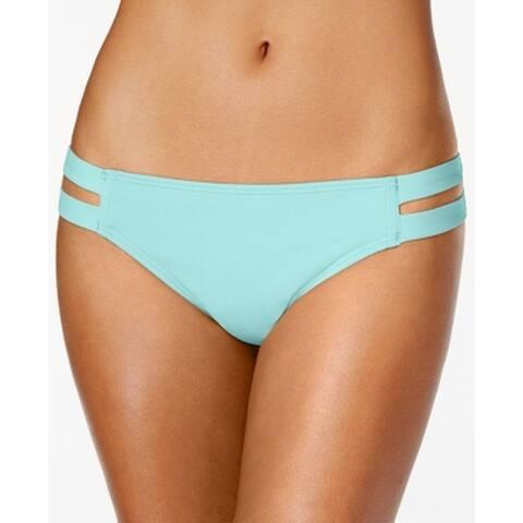 Vince Camuto Blue Womens Size XS Cutout Hipster Swim Bikini Bottom