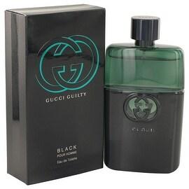 Gucci Guilty Black by Gucci Eau De Toilette Spray 3 oz - Men