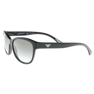 Emporio Armani EA4080 50178E Black Oval Sunglasses - 57-16-140