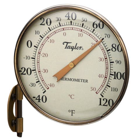 """Taylor 481BZ Metal Dial Thermometer, 4.25"""""""