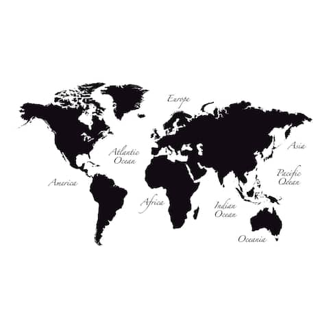 "Brewster CR-81105 39-2/5"" x 110"" - World Map - Self-Adhesive Reposit"