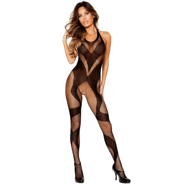 Shop Swirly Fishnet And Mesh Crotchless Bodystocking Hoty Swirly Fishnet And Mesh Crotchless Bodystocking Free Shipping On Orders Over 45 Overstock