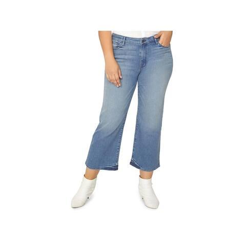 Sanctuary Womens Plus Cropped Jeans Wide-Leg Nonconformist - 20W