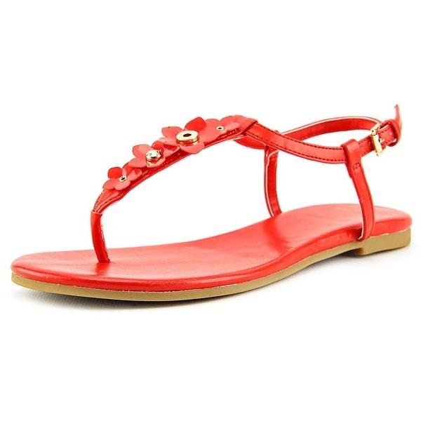 Cole Haan Effie Floral Sandal Open Toe Leather Thong Sandal