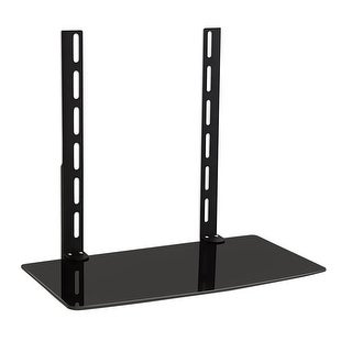 Mount-It! LCD, LED, Plasma TV Wall Mount Bracket for Cable Box, DVD Player, Stereo Components Shelf (1 Shelf)