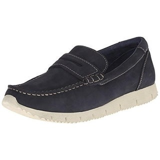 Marc Ecko Mens Benjamin Leather Slip On Loafers