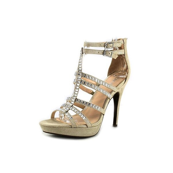 Bar III Womens Elicete Fabric Open Toe Special Occasion Ankle Strap Sandals