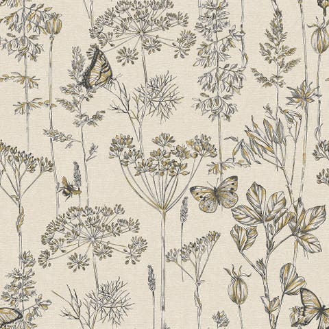 Arthouse Meadow Floral Unpasted Non-Woven Wallpaper