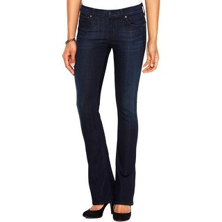 Citizens of Humanity Womens Emannuelle Petite Bootcut Jeans Slim Fit Dark Wash