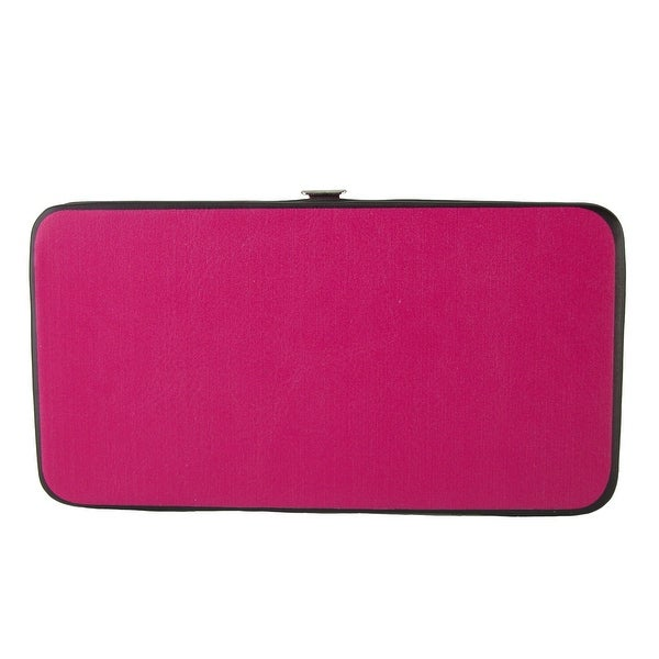 Buckle Down Women's Solid Color Hinged Card Case Wallet - One size