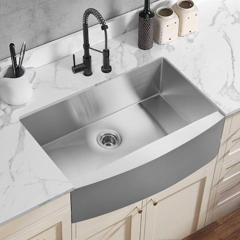 TiramisuBest Single Bowl Handmade Apron-Front Kitchen Sink
