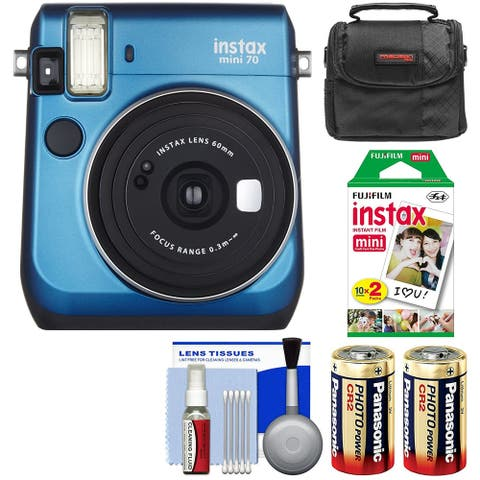Fujifilm Instax Mini 70 Instant Film Camera + 20 Prints + Case + More