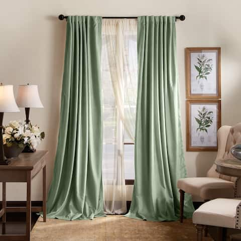 Martha Stewart Lucca Velvet Blackout Back Tab Curtains - Panel Pair or Valance