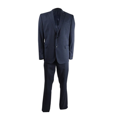 Kenneth Cole New York Men's Slim-Fit Performance Textured Suit (46L W40, Blue) - Blue - 46l w40