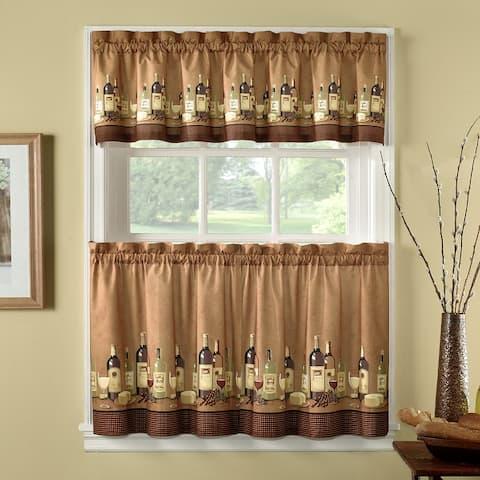 Wines 3-Piece Kitchen Curtain Tier Set