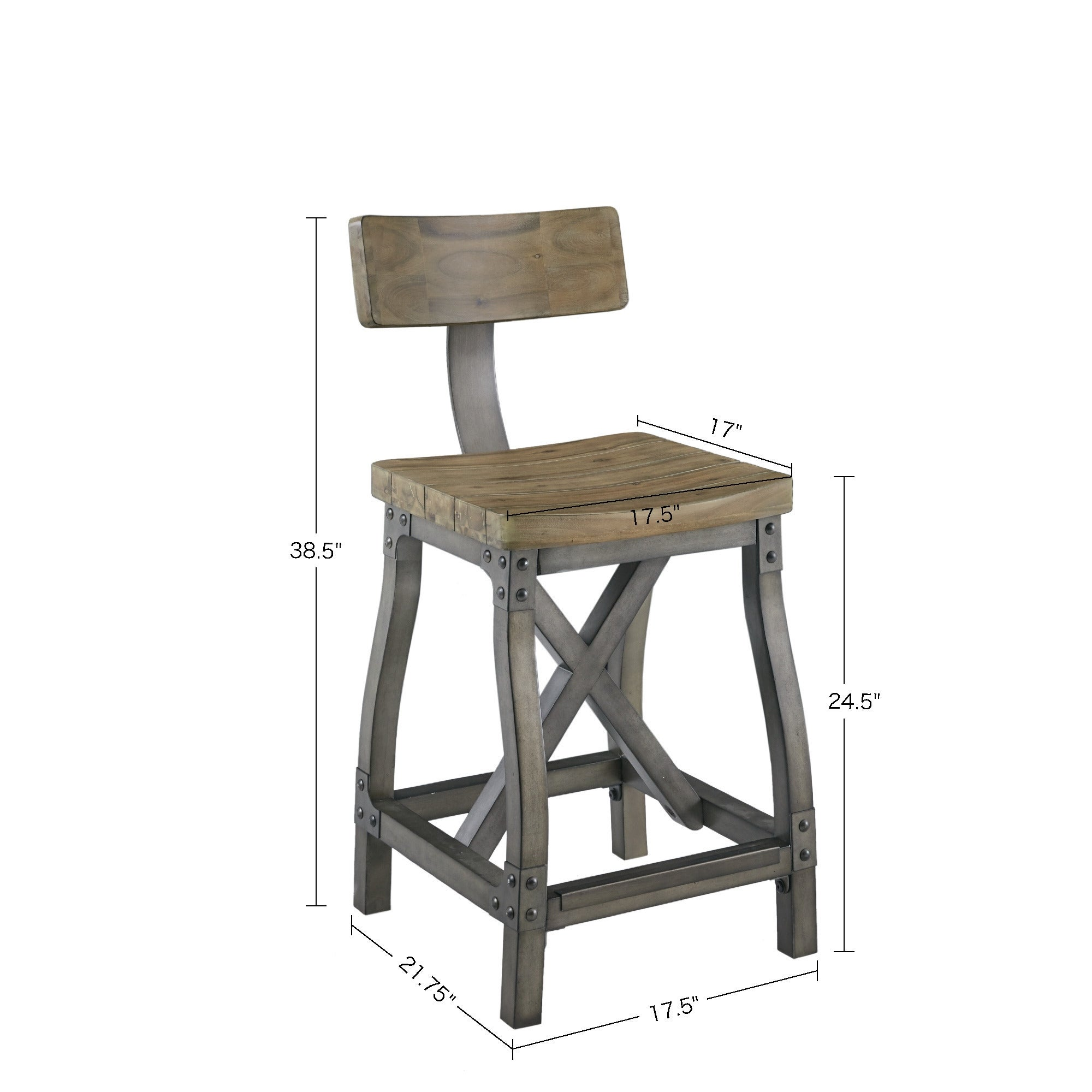 Lancaster Counter Stool With Back By Ink Ivy On Sale Overstock 13050597