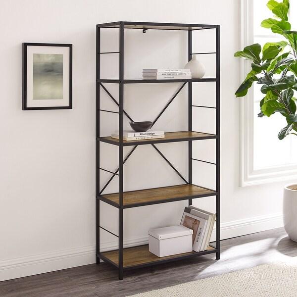 Carbon Loft Ora Industrial Rustic Bookshelf. Opens flyout.