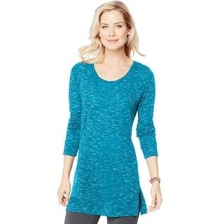 Women's Hanes Lightweight Space-Dye Vented Tunic - Size - 2XL - Color - Bold Blue Spacedye