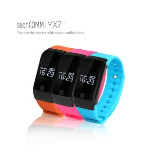 TechComm YX7 Water-resistant Fitness Tracker with Heart Rate Monitor