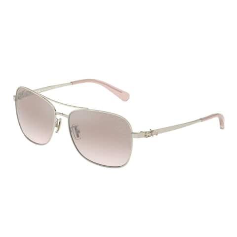Coach HC7080 9005LC 55 Light Gold Woman Pilot Sunglasses