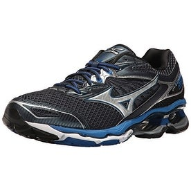 Mizuno Men's Wave Creation 18 Running Shoe, Dress Blue/Silver, 10 D US