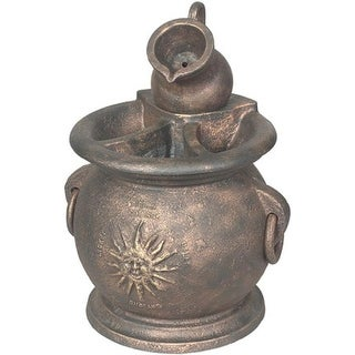 Little Giant 566763 Copper Kettle Classical Fountain With Planter