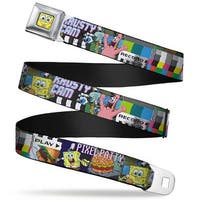 Sponge Bob 3 D Face Close Up Krusty Krab Cam Scenes Pixel Patty Krusty Cam Seatbelt Belt