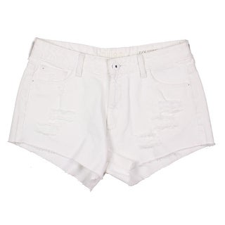 DL1961 Womens Ivy Cotton Distressed Denim Shorts