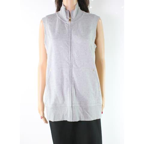 Lauren by Ralph Lauren Gray Women's Size Medium M Vest Sweater
