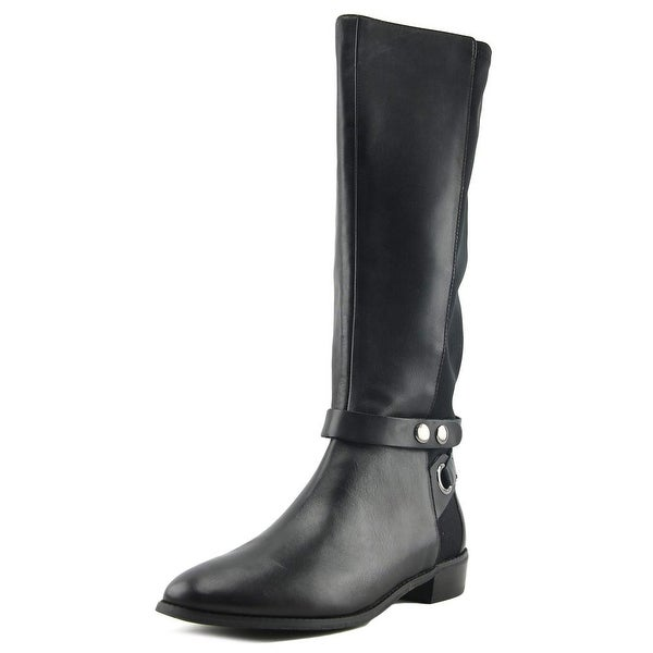 Tahari Rydell Women Round Toe Leather Black Knee High Boot