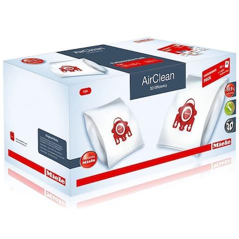 Miele Performance Pack 16 Type FJM AirClean 3D Efficiency FilterBags + HA50 HEPA Filter - Red